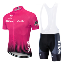 STRAVA Pro Team Cycling Jersey Set Women Summer Bike Clothes MTB Ropa Ciclismo Bicycle Uniforme Maillot Quick Dry 9D Pad