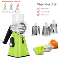 3 in 1 Swift Rotary Mandoline Slicer Multifunctional Vegetable Grater Cheese Chopper Nut Shredder Veggie Grinder Cutter 2019