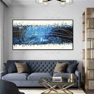 Image 1 - גדול 100% בעבודת יד מופשט בד קיר אמנות מודרני שמן ציור על Cnavas עכשווי דקור יצירות אמנות בית מלון משרד דקור