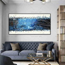 ขนาดใหญ่ 100% Handmadeบทคัดย่อผ้าใบWall Artภาพวาดสีน้ำมันCanvas BAGร่วมสมัยDecor Home Hotel Office Decor