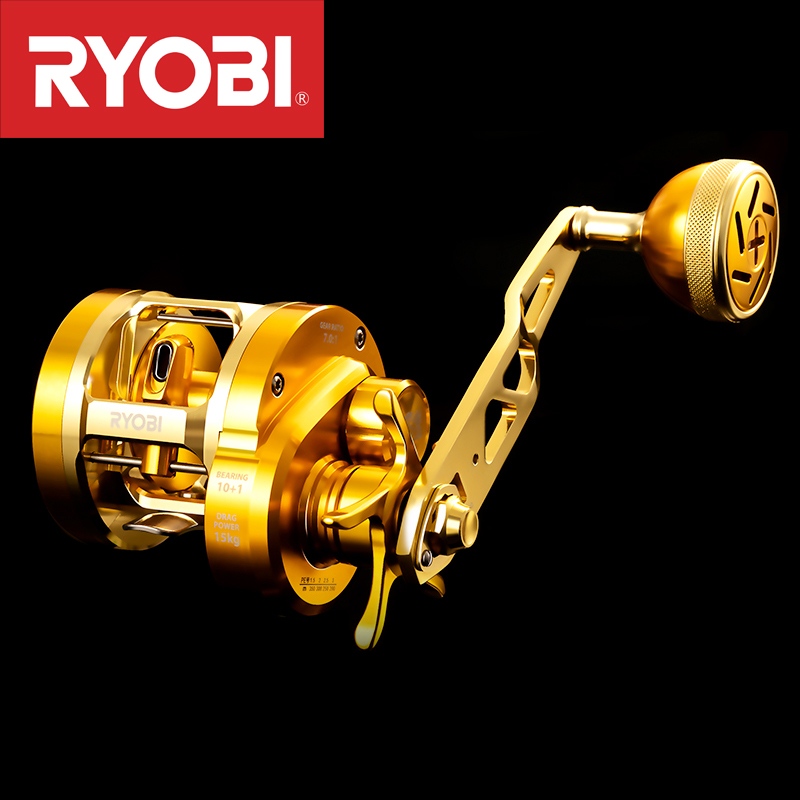 2019RYOBI VARIUS Slow Jigging Reel Saltwater Fishing Reels Left/right Handle10+1BB Max Drag15kg Gear Ratio7.0:1 Full-metal Body
