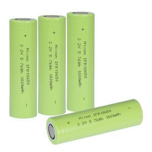 Image 1 - 4個1800 2600mah IFR18650 LiFePO4 3.2v充電式バッテリーと国連ウントul認証