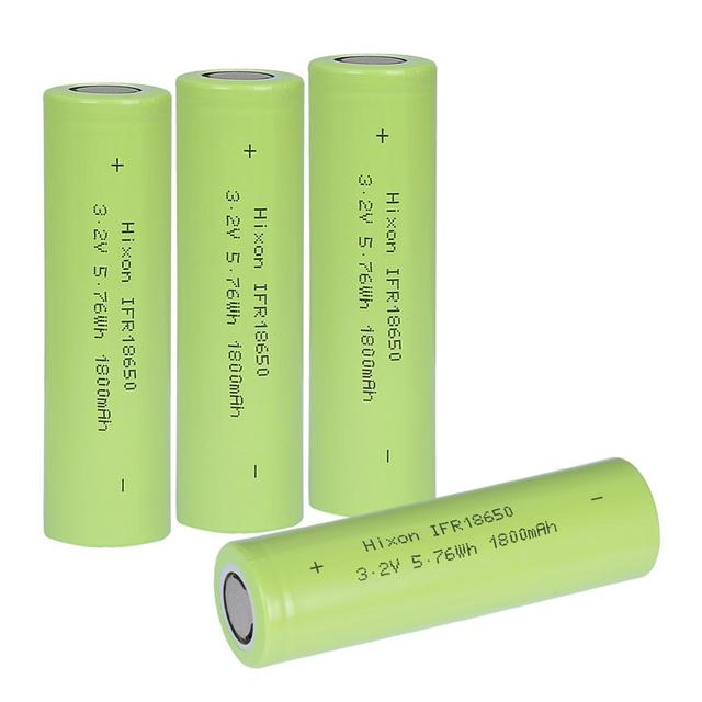 4 pcs 1800mAh IFR18650 LiFePO4 3.2V  rechargeable battery with UN und UL certification