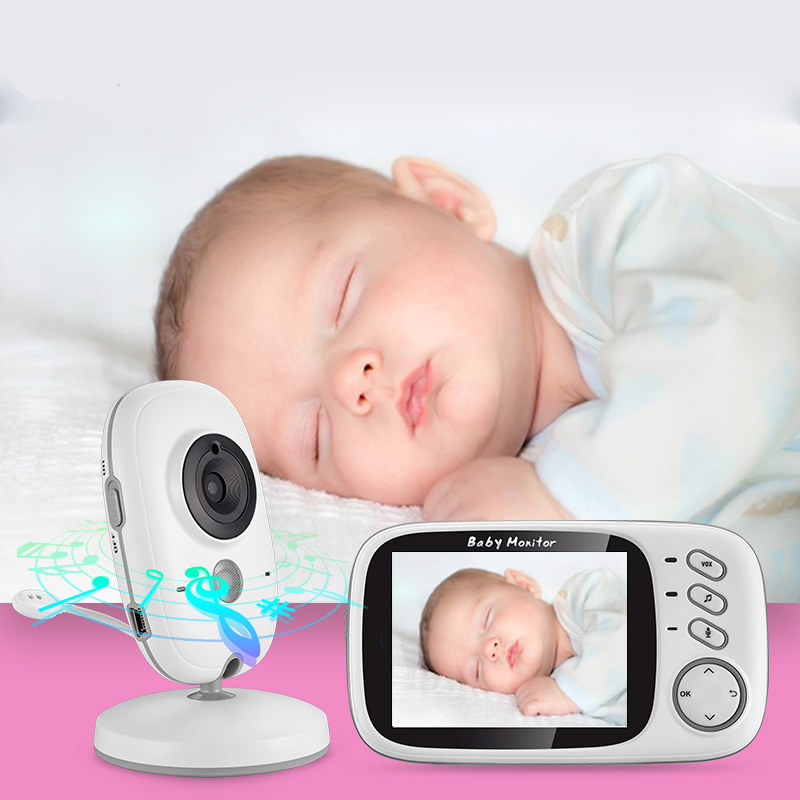 Wireless Video Color Baby Monitor 3.2 Inch High Resolution Baby Nanny Security Camera Night Vision Temperature Monitoring Baby