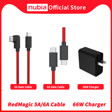 100% מקורי נוביה RedMagic 5A נתונים כבל אדום קסם 6A משחקי כבל USB סוג C ל usb סוג C 6A קלוע תאריך כבל