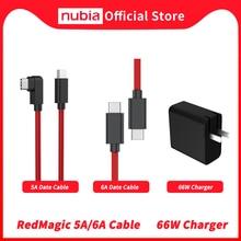 100% الأصلي النوبة RedMagic 5A كابل بيانات الأحمر ماجيك 6A الألعاب كابل يو إس بي Type C إلى USB Type C 6A مضفر تاريخ كابل