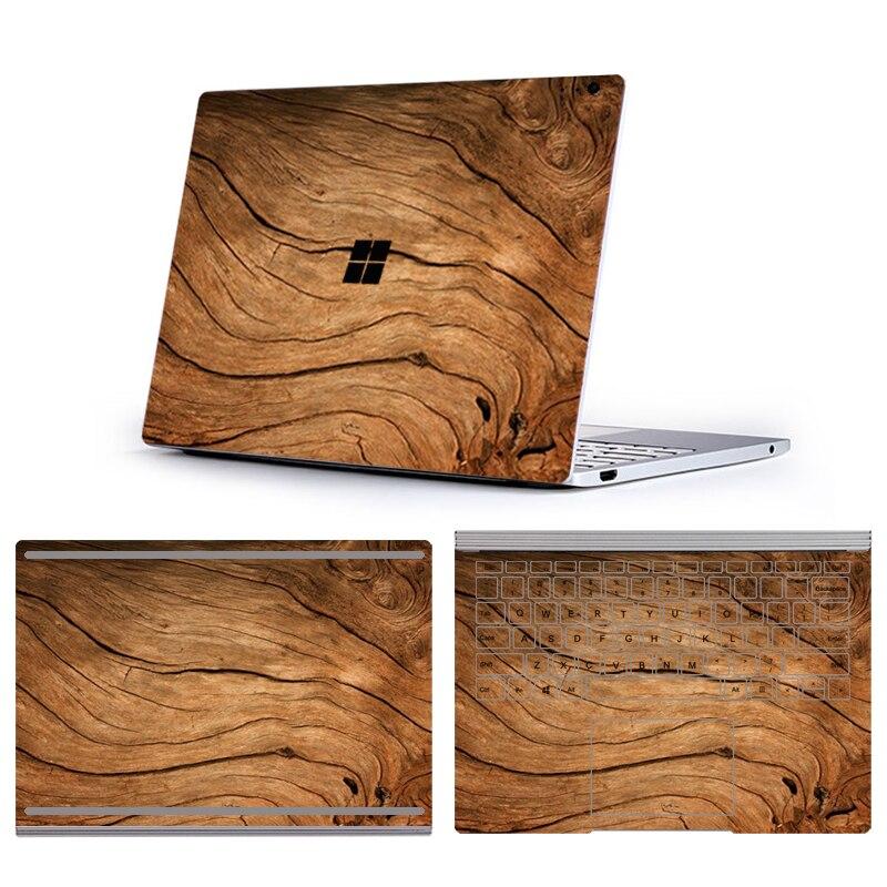 Autocollants en vinyle pour Microsoft Surface Book 3 13.5 15 pouces série de grain de Bois Autocollants Pour Ordinateurs Portables Pour Surface Book 2 13.5 15 peau