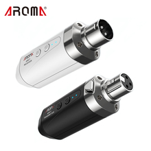 Wireless-Transmission-System Microphone AROMA ARC1 Transmisster--Receiver Effective 4-Channels