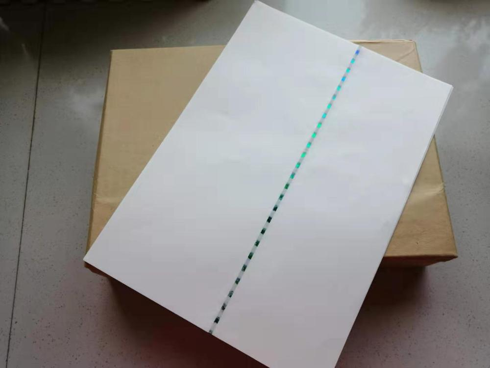 90gsm 75%cotton 25%linen Green Security Thread Waterproof Paper A4 Size White Color CYT019