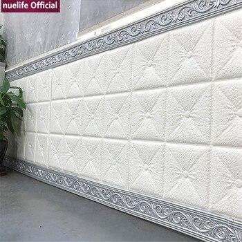 90cm 3d patrón suave paquete base estudio sala de estar habitación de los niños tienda impermeable anti-colisión espuma pegatinas de pared