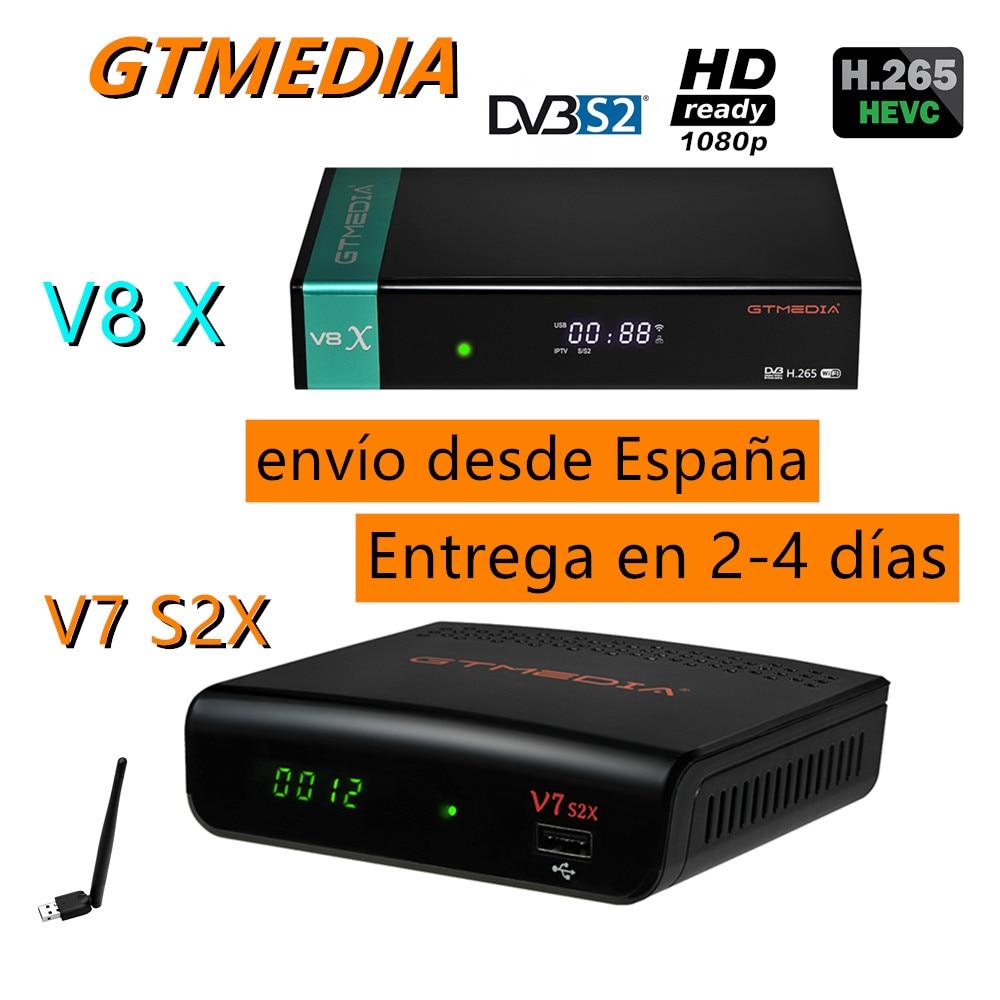 2021 Newest Gtmedia V7 S2X H.265 HD GTmedia V8X Receptor Upgraded by GTmedia V8 Nova Built in Wifi Support DVB-S2/CA no app