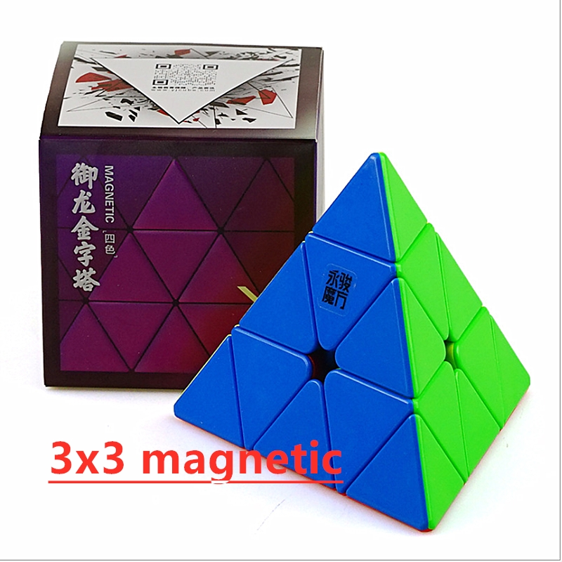 YongJun Yulong M 3x3 Magnetic Pyramid Cube Yulong 3x3x3 Magnetic Pyramid Magic Cube Yongjun Pyramid Cubo Magico