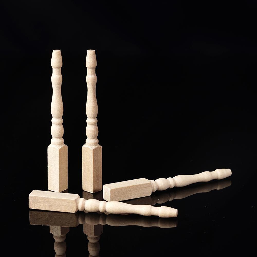 Brain Game Kids Toys Dollhouse Miniature DIY Wooden 4pcs / Lot 1:12  Furniture Leg Chair Table