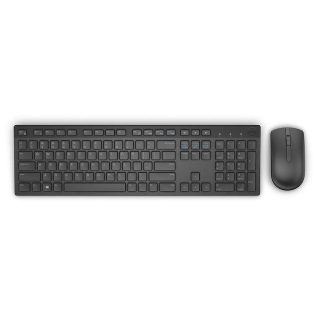 Dell clavier + souris ensemble Membrane 580-ADFT (USB 2.0; (US); Couleur noire; Optique)