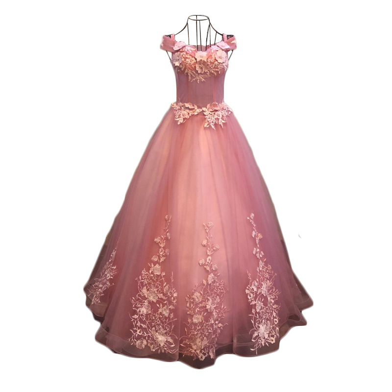 Quinceanera Dresses Off The Shoulder Party Prom Luxury Lace Floor-length Ball Gown Vintage Vestidos De 15 Anos Quinceanera Dress