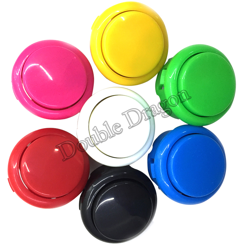 Arcade Machine Button 30mm With Microswitch High Quality Copy-obsf Push Buttons Short Version For Fighting Games Cabinet