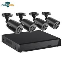 Floureon 8CH CCTV система 4 шт 1080p наружная камера безопасности с защитой от атмосферных воздействий DVR комплект день/ночь домашняя система видеонаблюдения комплект