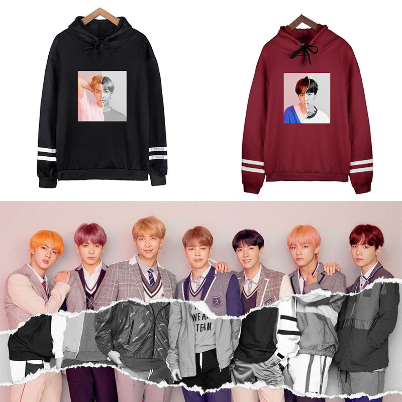 BTS Bulletproof Boys Hoodie Related Products Korean-style Plus Velvet Hoodie Loose-Fit Coat Should Aid The Clothes Men And Women