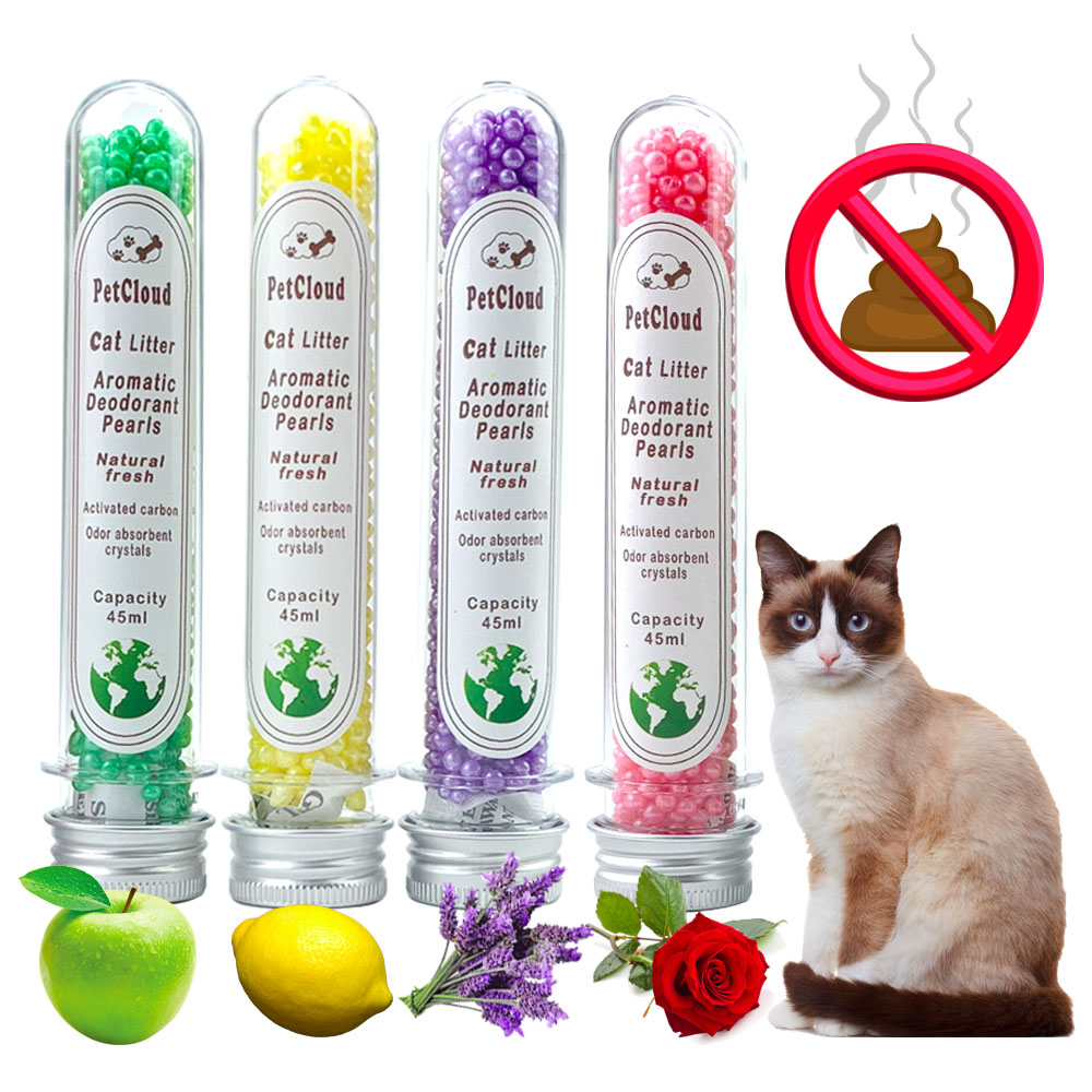 4 Aromatic Cat Litter Deodorant Beads Odor Activated Carbon Absorbs Pet Removaling Excrement Stink Deodorizing Cleaning Supplies