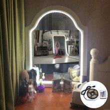 Novelty Led Selfie Lamp Ring Makeup Lightings 5V Usb Tape Ribbon Night Light Make Up Mirror Neon Sign Usb Led Strip Selfie Lamp