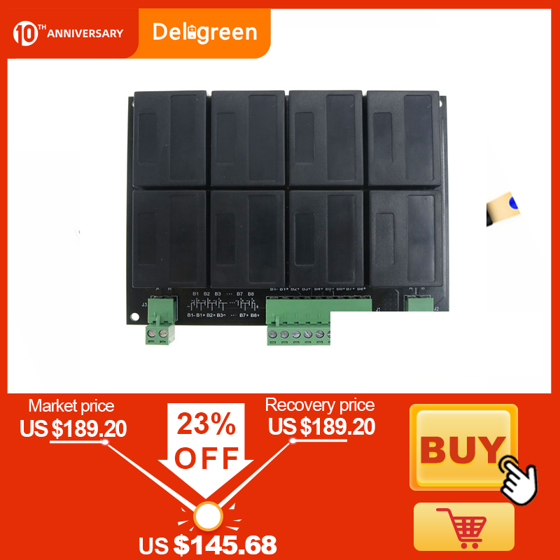 8S/24V QNBBM Lithium Battery Equalizer Balancer BMS For  LIFEPO4,LTO NCM LMO 18650 DIY Pack