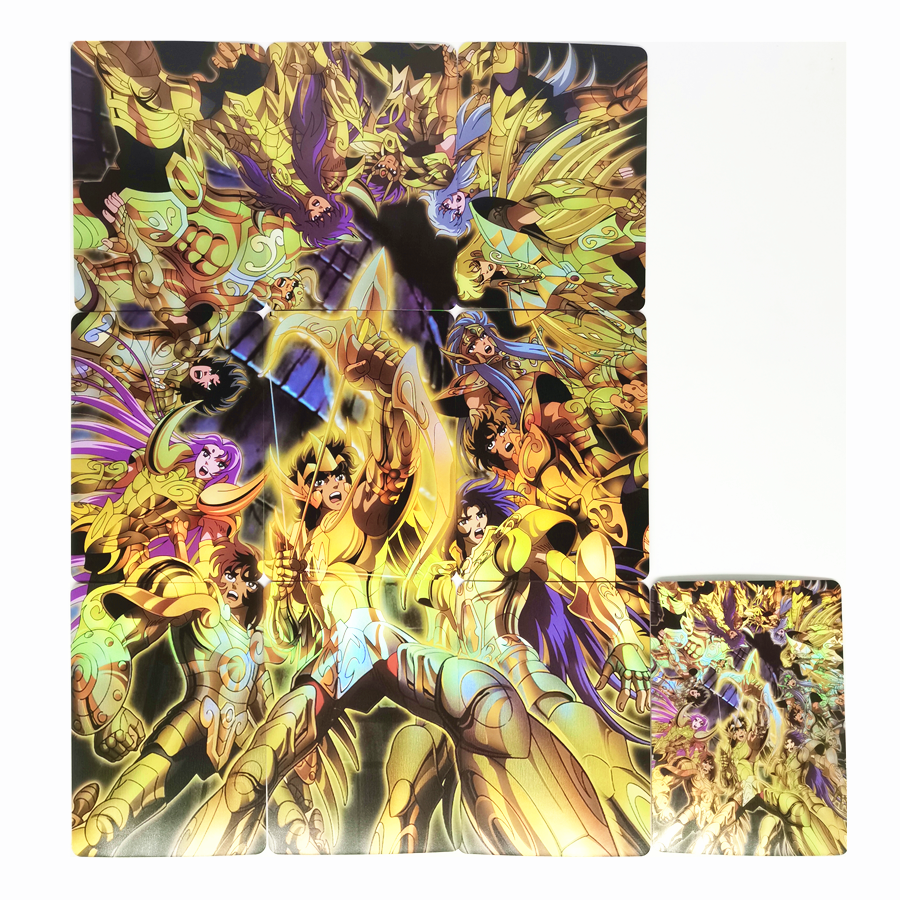 10pcs/set Saint Seiya Soul Of Gold Western Wall The Signs Of The Zodiac Toys Hobbies Collectibles Game Collection Anime Cards