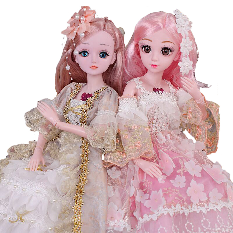 2020 New Arrivals Lifelike 60cm Girl Doll Movable Joint Fashion Princess Large Doll Set Blue Eyes Toys Kids Gift For Children