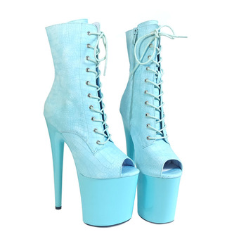 Leecabe Beautiful Pole dancing Ankle shoes High Heel platform Boots Vegan Boots  Costume  Boots Pole Dancing boot single shoes sexy nightclub mixed color performance adult ultra white women leather high boots heel 18cm pole dancing leg chain