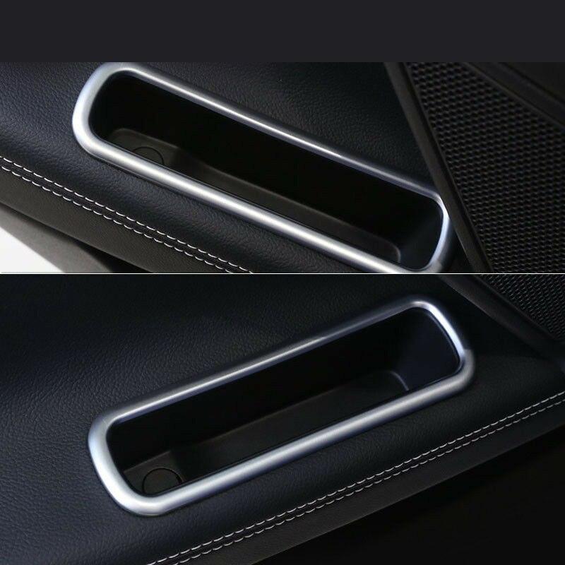 Car Side Window Switch Panel Door Handle Cover fit Trim For Jaguar XE 2015-2018