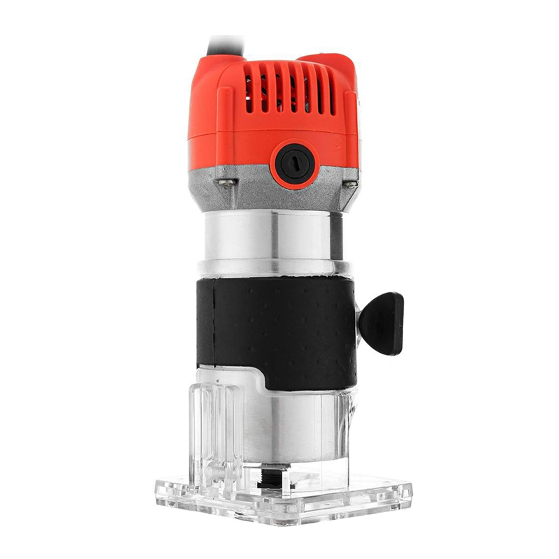 HHO-800W 220V 30000Rpm Electric Hand Trimmer Wood Router Laminate 6.35Mm Durable Motor Diy Carving Machine Woodworking Power Too