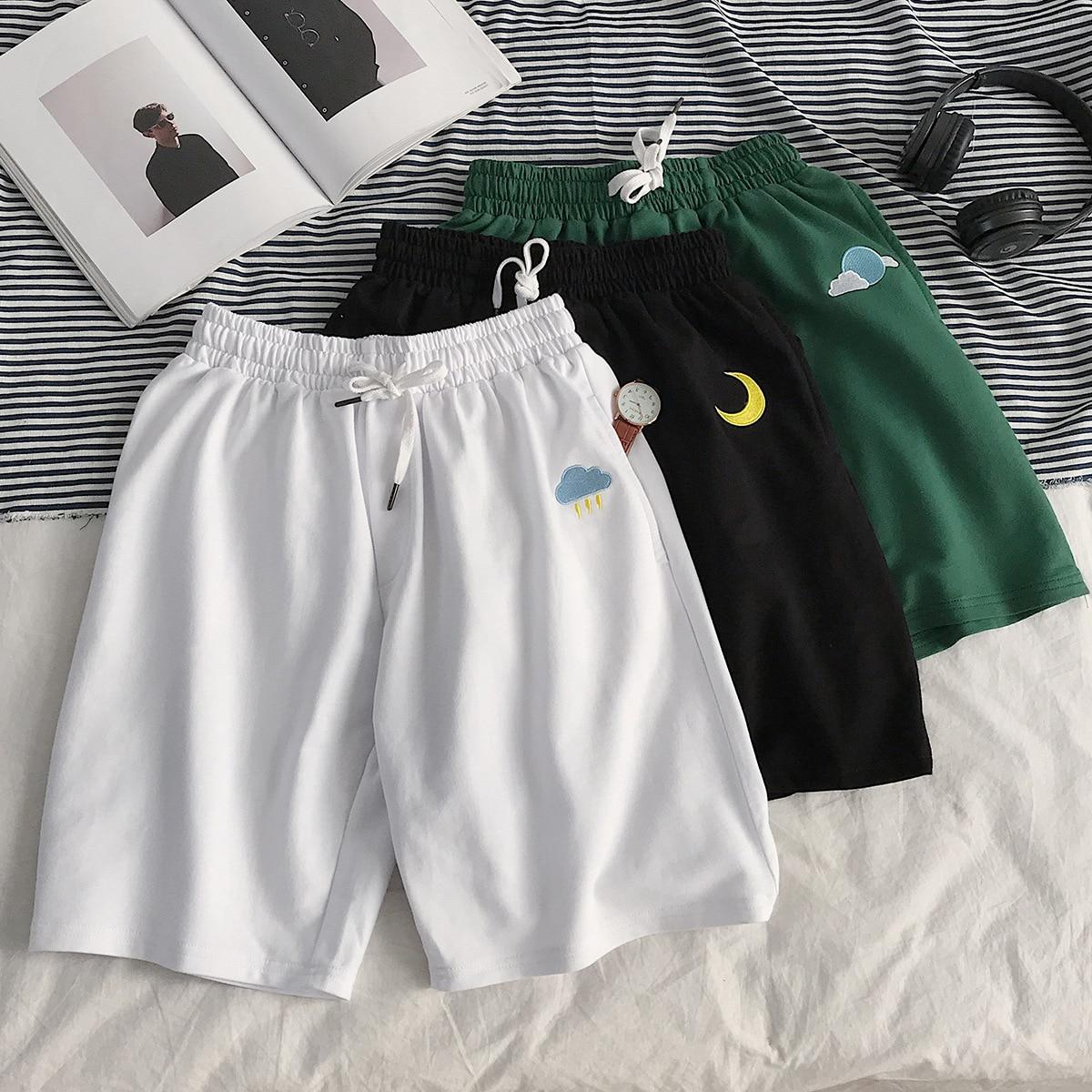 Hong Kong Style Summer Short Shorts Men's Loose-Fit Sports 5 Casual Pants Popular Brand Online Celebrity INS Trend Versatile Sho