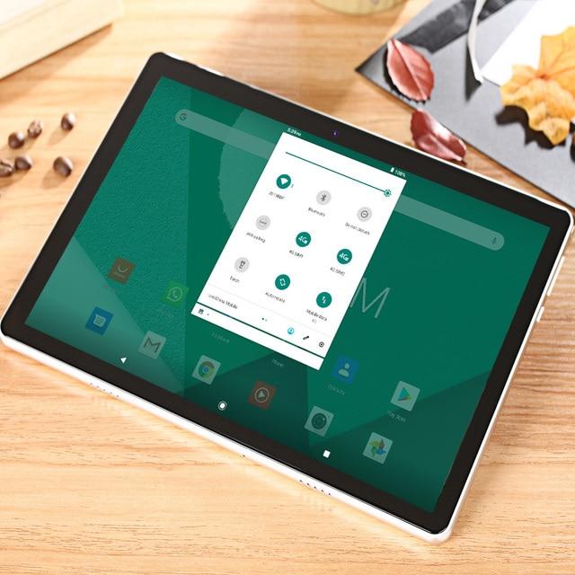 Tablet PC de 10.1 Polegadas - Sistema Operacional  Android 9.0 - Compatível com  3G 4G LTE  5