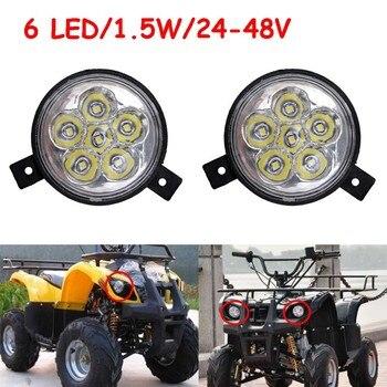 1 Pair 24V-48V 1.5W Headlight For Mini ATV Electric Scooters Taotao 49cc 50cc 70cc 90cc 110cc