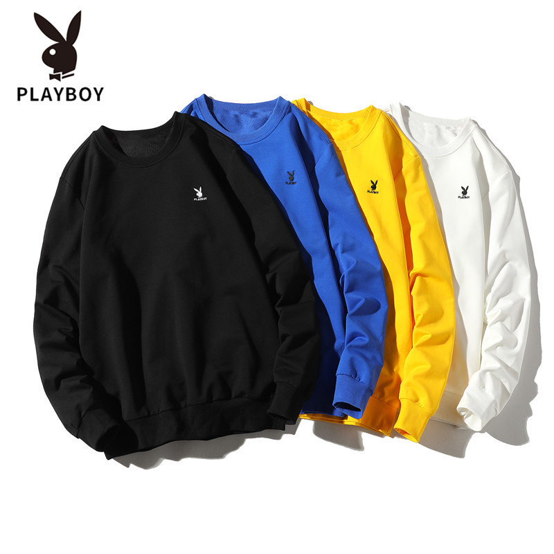 2022 Hot Sale Brand Playboy Men's Slim Fit Breathable Fashion Trend Round Neck Baseball Uniform Sweater Clothes