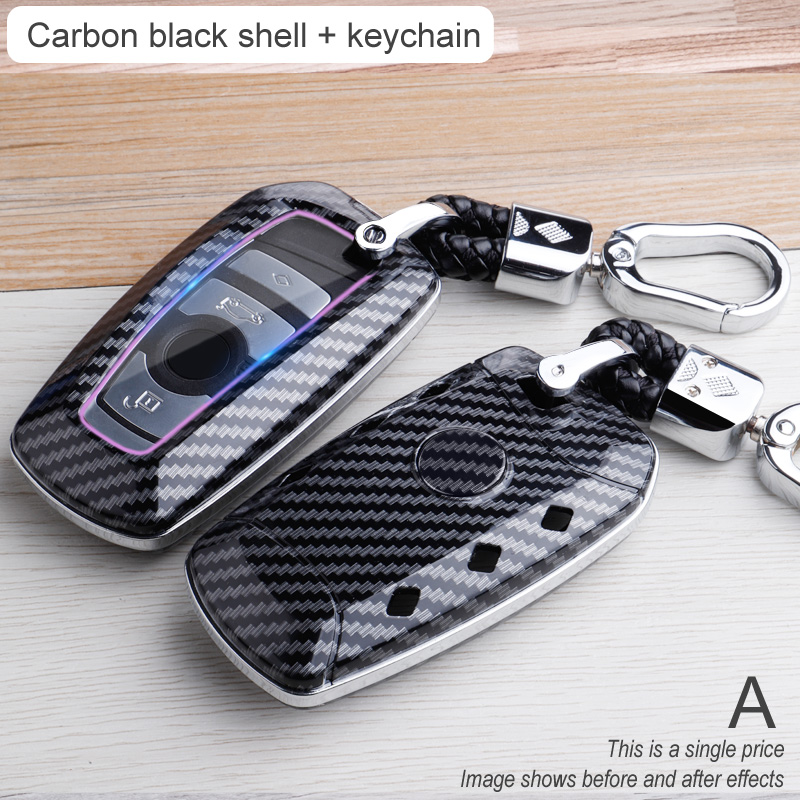 Carbon Car Key Case For BMW 3 5 6 X1 M1 GT F20 F10 F30 520 525 520I 530D E34 E46 E60 E90 Remote Fob Protector Pouch Keychain Bag