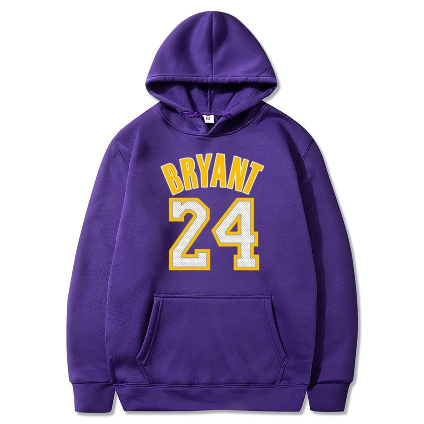 2020 New Hoodie Sweatshirt Men Basketball Sport Hoody 24th Sign Printed Pullovers Winter Hoodies Off White