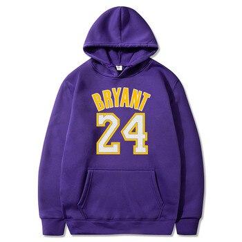 new men's hoodie sweatshirt camouflage Basketball sport hoody BRYANT 24 print men clothing sweatshirts Winter hoodies off white