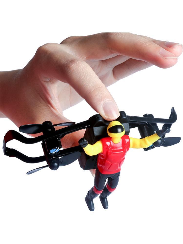 Air Stunt Airplane Remote Control Trapeze Four-axis Airplane Aircraft Drop-resistant 0.25Kg Following Motorcycle Handle Children