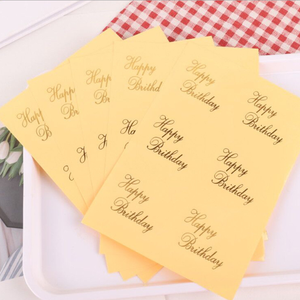 Stickers Seal-Envelopes Transparent Office-Supplies Happy-Birthday-Cards Round for Bronzing