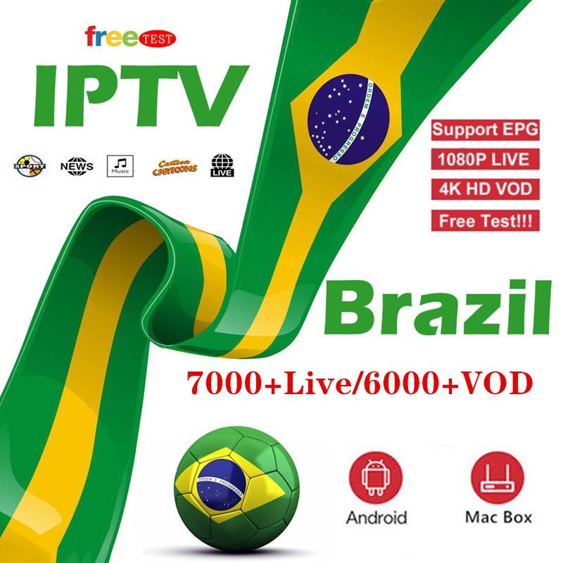 7000+ Live Brazil IPTV M3u Subscription Iptv UK German  Arabic Italy VOD Premium For Android Box Enigma2 Smart TV XXX Hot
