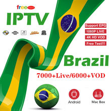 7000+ Live Brazil IPTV M3u Subscription Iptv UK German French Arabic Italy VOD Premium For Android Box Enigma2 Smart TV XXX Hot(China)
