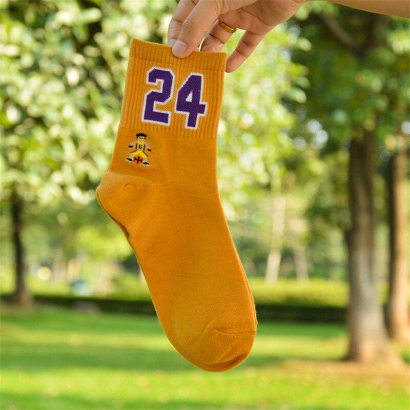 Номер 23 09 35 24 21 Элитные спортивные баскетбольные супер носки с дизайном «звёзды» носки для влюбленных забавные счастливые носки чулки женск...