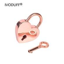 2 шт в упаковке розовое золото милый замок форме сердца 30x39