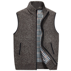 Men Wool Sweaters Vest Nice Autumn Winter Thick Warm Casual Cashmere Coat Sleeveless Knitted Vest Jacket Fleece Sweatercoat