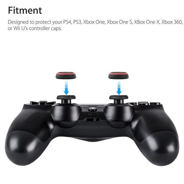 4pcs Del Silicone Analogico Thumb Stick Grip Copertura Della pelle per Xbox 360 Una Playstation 4 Per PS4/PS3 Pro Sottile gamepad Joystick Cap Cap casi 3
