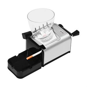 Image 2 - מתגלגל מכונת סיגריות מתכת חשמלי אוטומטי טבק רולר אלקטרוני יצרנית סיגריות מגש צינור עישון אביזרים