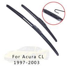 XYWPER стеклоочистителей для Acura CL 1997 1998 1999 2000 2001 2002 2003 автомобильные аксессуары мягкий резиновый стеклоочиститель