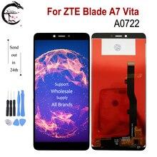 """5.45 """"חדש LCD עבור ZTE להב A7 Vita A0722 LCD תצוגת מסך מגע פנל Digitizer חיישן הרכבה A7vita תצוגה החלפה"""