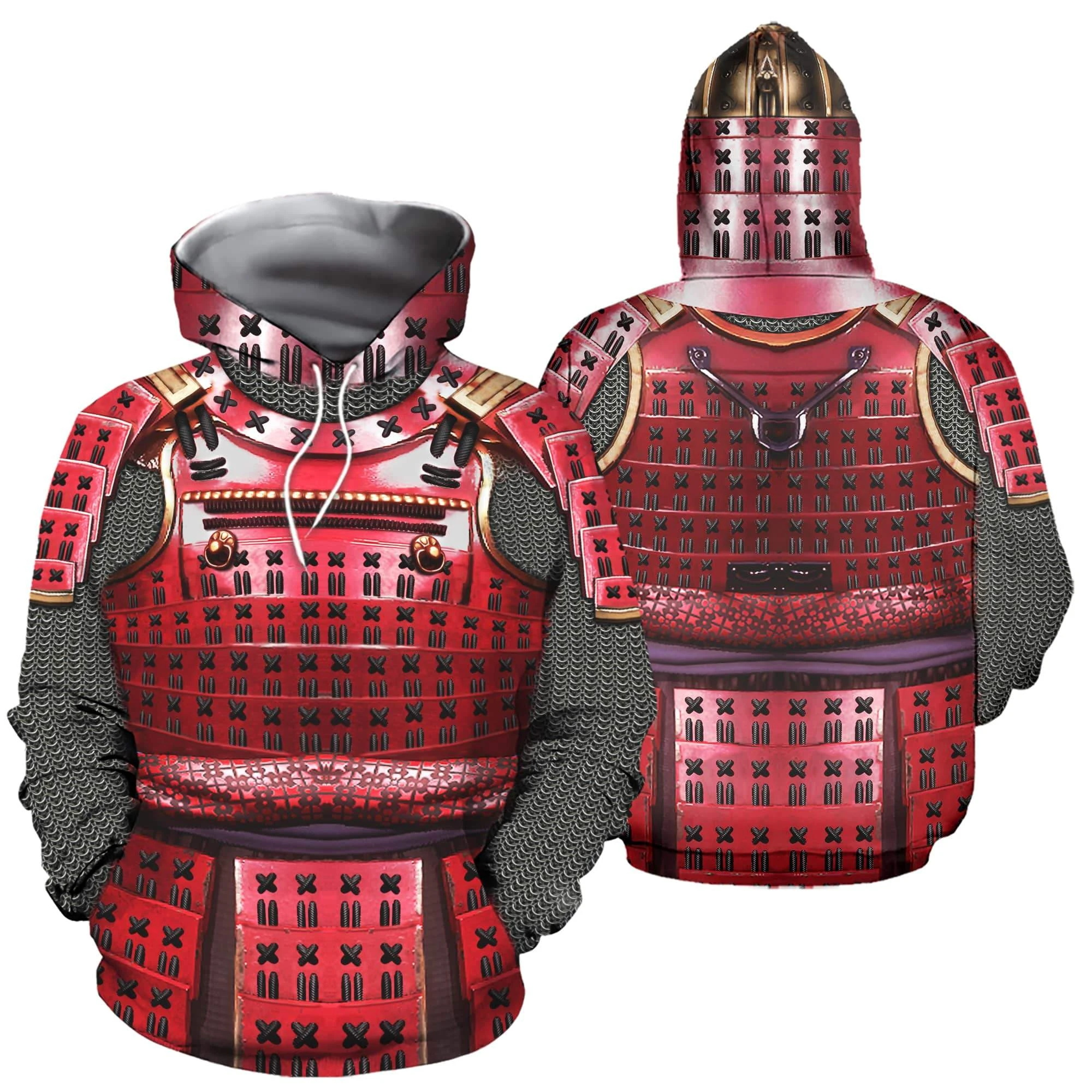 3D Printed Knight Medieval Armor Men Hoodies Knights Templar Harajuku Fashion Hooded Sweatshirt Unisex Casual Jacket Hoodie QS99