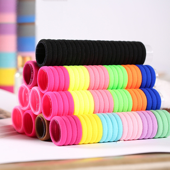 100Pcs High Elastic Hair Bands for Women Girls Hairband Ponytail Holder Rubber Band Gum Hair Ties Scrunchies Hair Accessories 100pcs bag colorful nylon hair gum ties girls ponytail holder rubber bands headband elastic hair bands fashion hair accessories